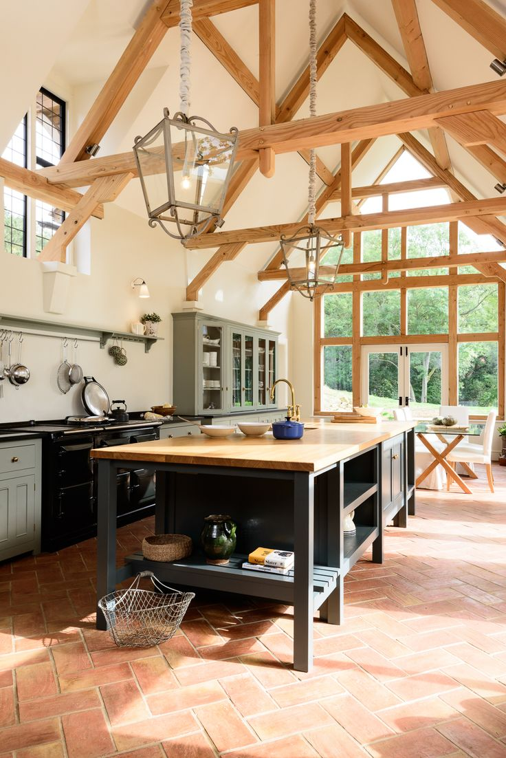 The Guildford Dairy Kitchen by deVOL; a beautiful big sunny farmhouse kitchen in Surrey