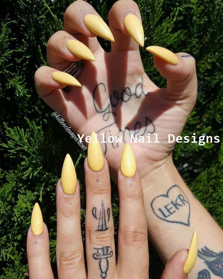 23 Great Yellow Nail Art Designs 2019  yellownaildesign