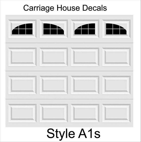 Carriage House Faux Window Garage Door Vinyl Decals Fits 8 X Etsy Garage Doors Garage Door Windows Vinyl Garage Doors