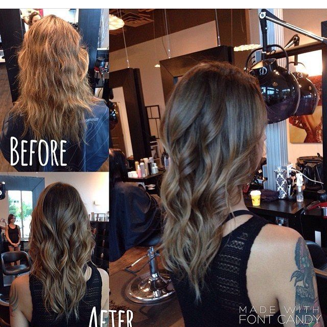 Before and after! Natural and light! #Kelowna #summer #makeover #ombre #balayage #wella #joico #beige #blonde #brunette #curls #natural #hairsalon #beforeandafter  Hair by @sjacobi