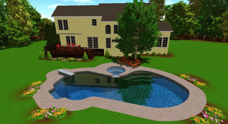 16 Best Images About Semi Inground Pool Design On