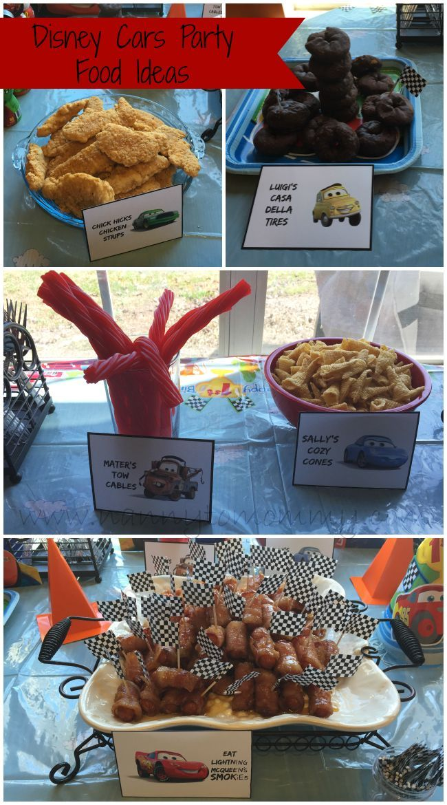 Disney Cars Birthday Party Food Ideas + FREE Printables