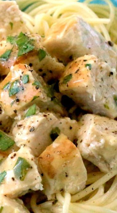Lemon Garlic Slow Cooker Chicken
