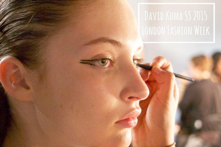 Dubbele eyeliner, David Koma SS 2015 london fashion week