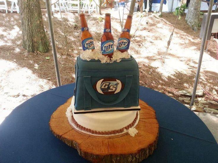 Beer bottle cake, Miller Light Cake, Georgia Southern Cake