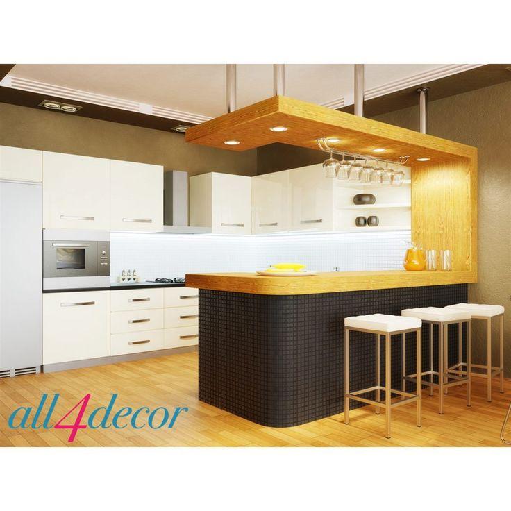Установить стойку возможно и в маленькой квартире, правда, для этого придется сделать перепланировку, убрав стену между кухней и гостиной. Но затраты того стоят: площадь кухни зрительно увеличится, появится (при необходимости) дополнительная рабочая площадь в виде столешницы стойки, можно, если семья небольшая, отказаться от обеденного стола.  #all4decor #мебель #design #interior #architecture #interior_design #interiordesign #inspiration #interiors #decor #decor #декор #интерьер #дизайн…
