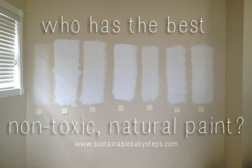 We compared 8 brands of low-VOC paint to find out which one is safest and works the best for interior walls., via SustainableBabySteps.com
