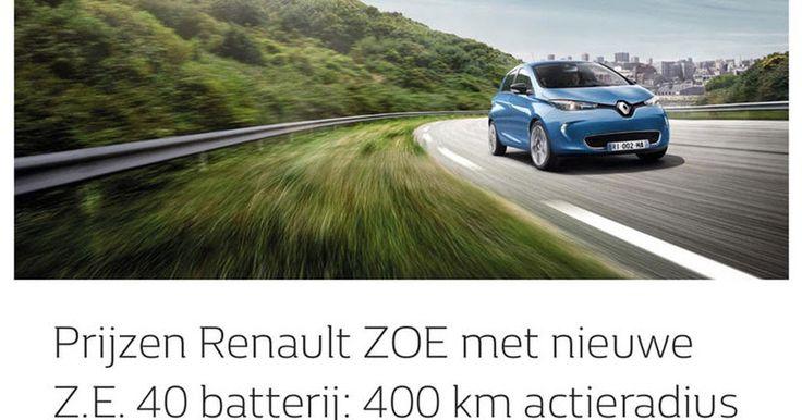 Revised Renault Zoe Leaks With 400 km Range #Electric_Vehicles #Paris_Auto_Show