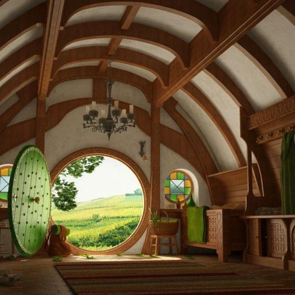 Off Road Design >> Mittelalter Dekoration im Innen Design Runde Tür   Ideen rund ums Haus   Haus, Hobbit häuser und ...