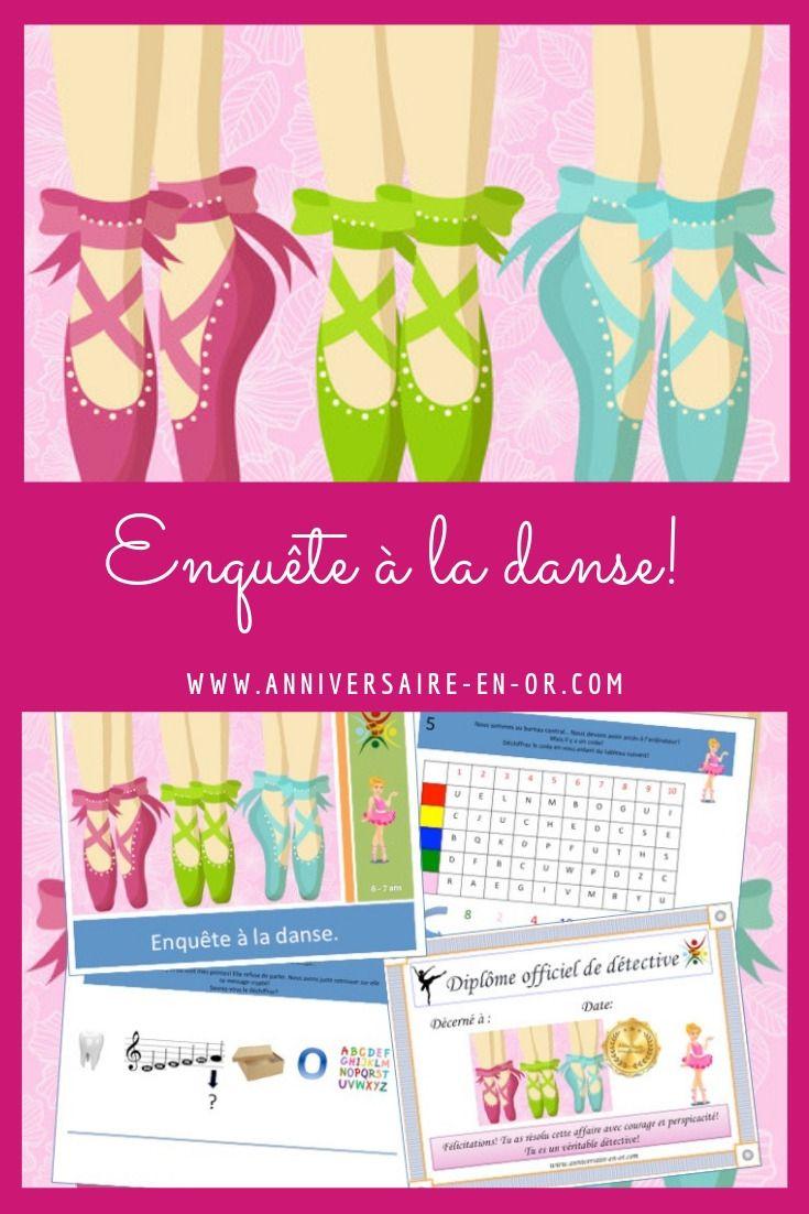 Enquête à la danse! Kit de jeu complet à imprimer pour enfants! | Organisation anniversaire ...
