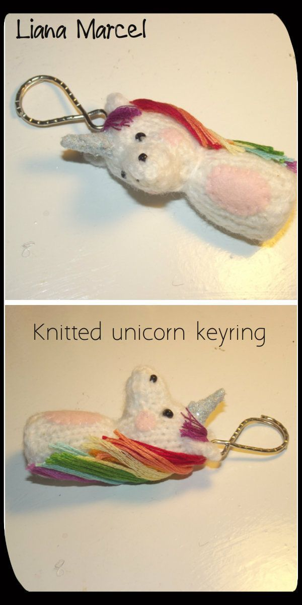 Free Knitting Pattern - Unicorn keyring via Liana Marcel. Click on the image to see more!