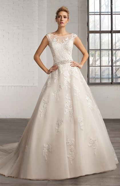 Wedding Dresses Bridesmaid Prom And Bridal Cosmobella Style 7768 Lace Over Tulle