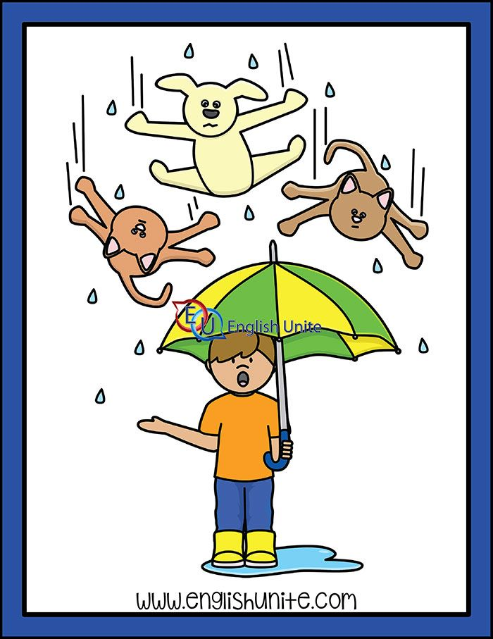 Idiom Raining Cats And Dogs Raining Cats And Dogs Idioms Cats