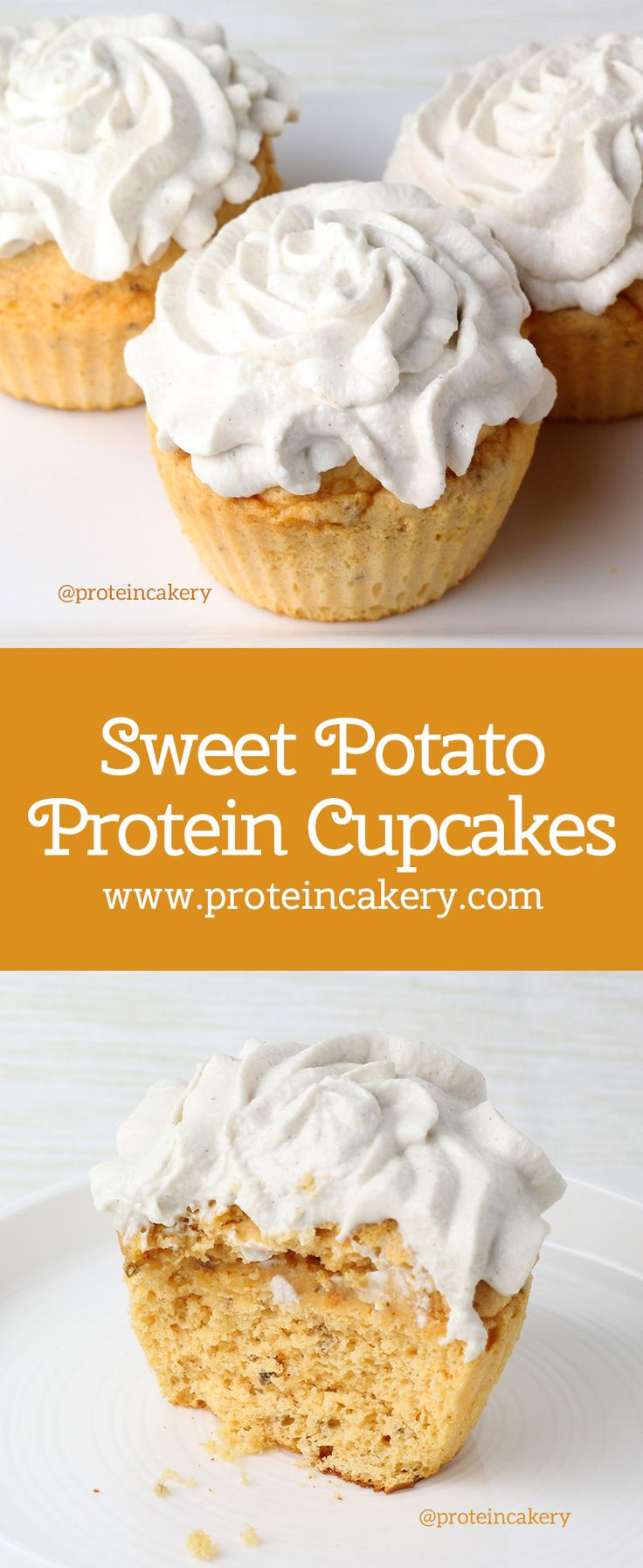 Sweet Potato Protein Cupcakes - gluten free, low carb - Andréa's Protein Cakery