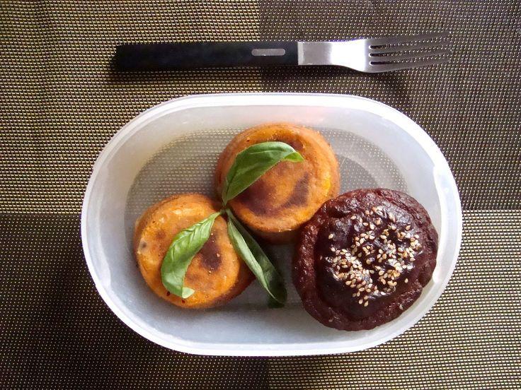 Schiscetta - Sformatini di Parmigiana di Melanzane e Muffin al Pomodoro (Pomilia Style)
