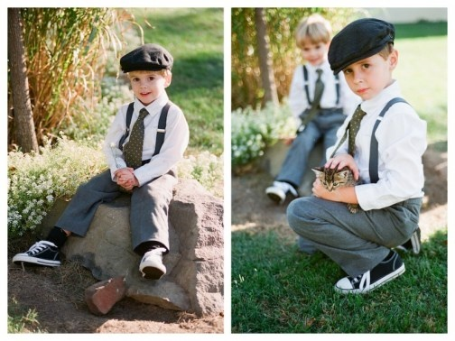 Ring Bearer! gets the chucks to coordinate with the wedding colors!! i frickin adore this look