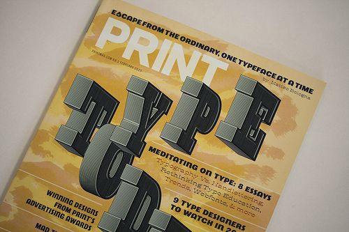 """TypeTogether is one of the """"9 Type Designers to Watch"""" according to Print magazine in its February 2015 issue devoted exclusivly to type design and typography. We are in great company with Nina Stössinger, Hannes von Döhren, Jackson Cavanaugh, Maria Doreuli, Cindy Kinash, Frank Grießhammer and Dave Foster."""