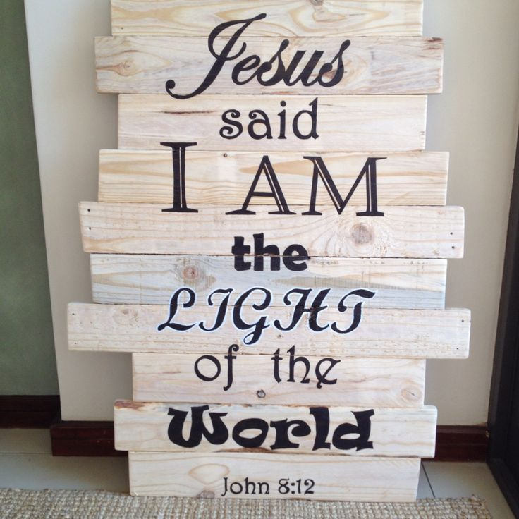 Pallet wood banner for church