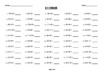 Learning the times tables can be tricky, but is crucial foundation in maths.The times tables are from 0 to 12. In addition, they are written both ways. e.g. 0 x 1 = 0 and 1 x 0 = 0. So children don't get locked into one way of seeing the question written.The workbook includes 20 worksheets with 50 questions on each page.