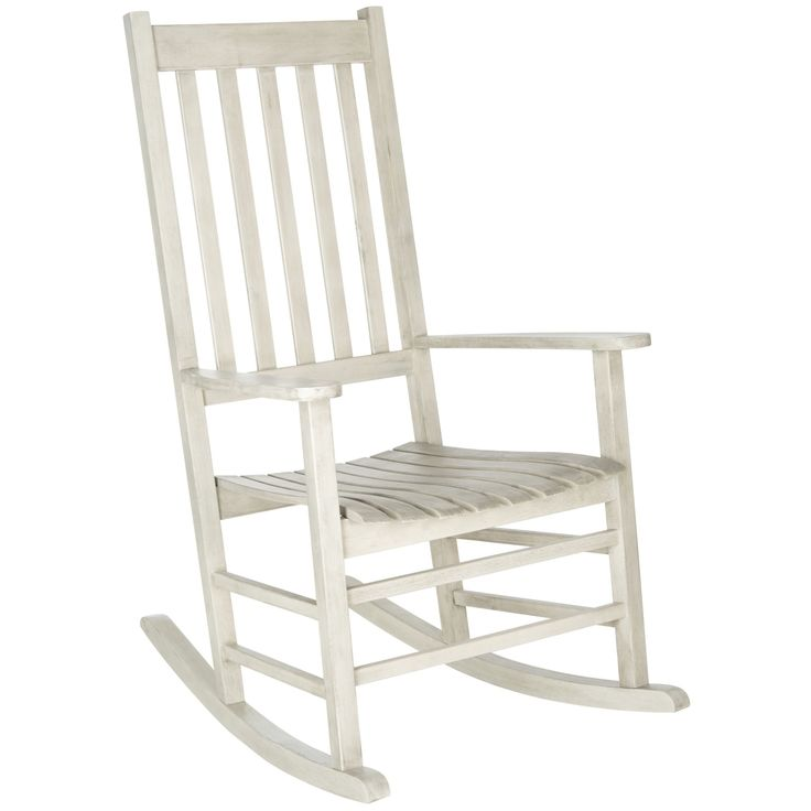 159.99 Safavieh Shasta White Wash Acacia Wood Rocking Chair - Overstock™ Shopping - Big Discounts on Safavieh Sofas, Chairs & Sectionals