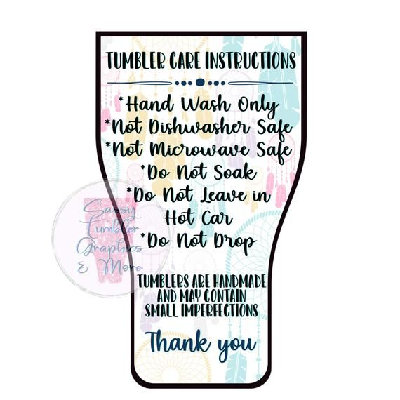 Epoxy Tumbler Printable Care Instructions Download Only In 2021 Diy Tumblers Custom Tumblers Diy Cups
