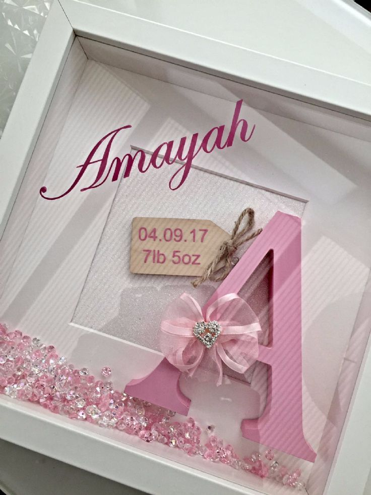 New Baby Birth Announcement Frame Our beautifully handcrafted baby s initial shadow box frame is the perfect gift anyone would be delighted to