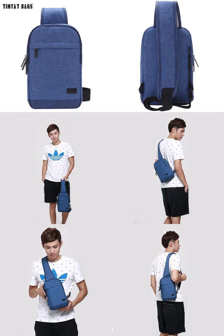 [Visit to Buy] TINYAT 2016 Fashion Cool Men Casual Waist Pack Chest Bag Six Bags Functional Convenient Money Phone Belt Bag T-602 Blue Black  #Advertisement