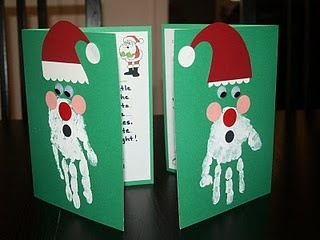 Cute christmas cards for the kids to make!