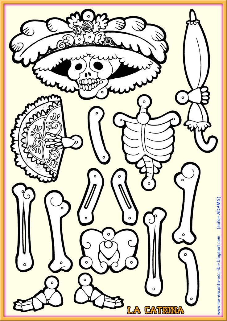 La+Catrina+Manualidad+-+Me+encanta+escribir+en+español+-+Señor+ADAMS.png (1131×1600)