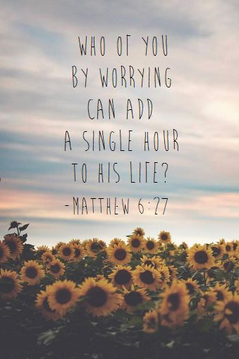 So I say to you, do not worry, for who among you by worrying could change a hair…