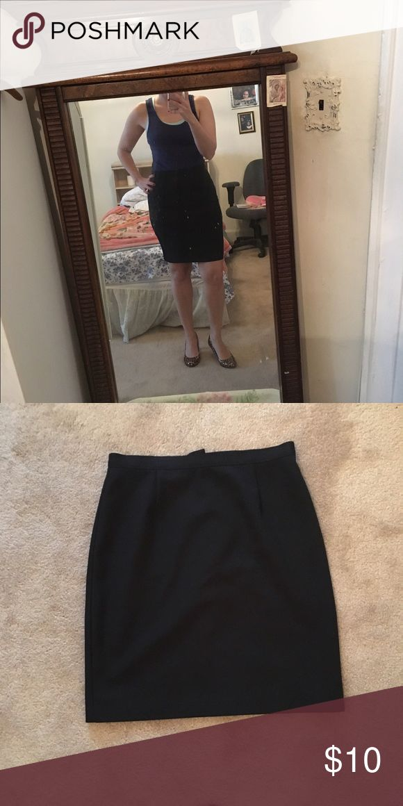 Black pencil skirt Black pencil skirt small slit in the back. Skirts Mini