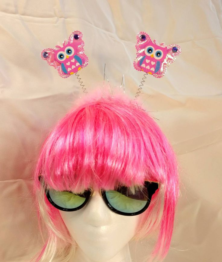 Reversable EDC Owl Butterfly Daisy Headband • EDM • Costume • Outfit • Rave  • Kids • Festival • Dress Up • EDC • https://www.etsy.com/listing/583052092/reversable-edc-owl-butterfly-daisy?utm_campaign=crowdfire&utm_content=crowdfire&utm_medium=social&utm_source=pinterest