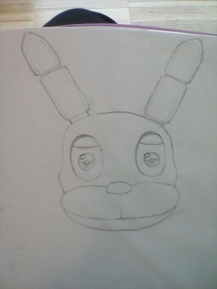 Desenhei o Bonnei. Eu sei que não está muito bom.