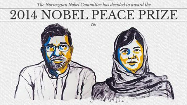 Malala Yousafzai and Kailash Satyarthi win 2014 Nobel peace prize | World news | The Guardian