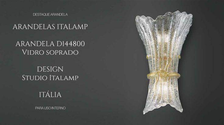 puntoluce arandela italamp vidro soprado italiano