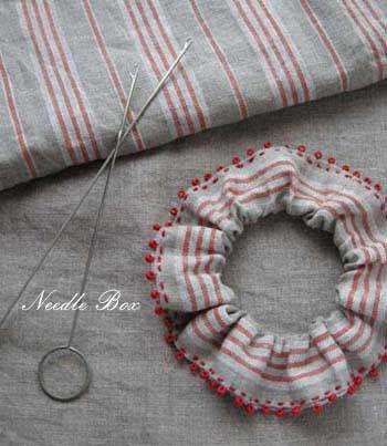 手縫いでガーリッシュなシュシュ♪の作り方|その他|ファッション小物|ハンドメイドカテゴリ|アトリエ
