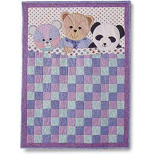So cute for a toddler. Quilt Pattern Using 3 Colors | Teddy Bears and Quilt Patterns | Quilters Showcase