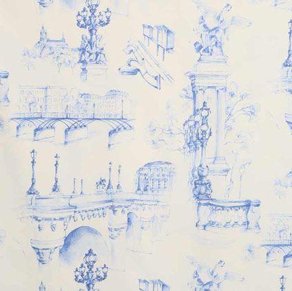 Aqua Blue and Teal Fabrics Paname Blue