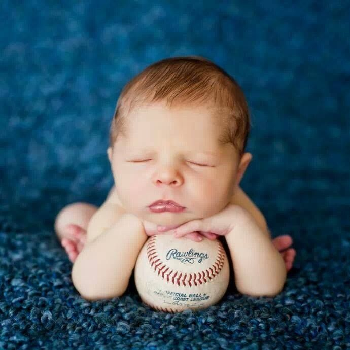Newborn Baseball Photography Ideas