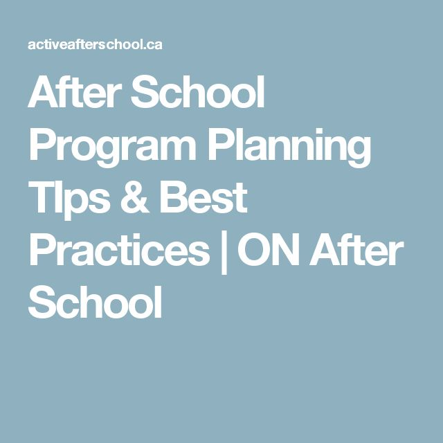 After School Program Planning TIps & Best Practices | ON After School