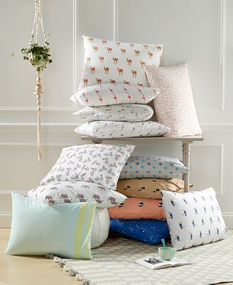 Whim by Martha Stewart Collection Novelty Print Sheet Sets, 200 Thread Count 100% Cotton Percale, Only at Macy's - Sheets - Bed & Bath - Macy's