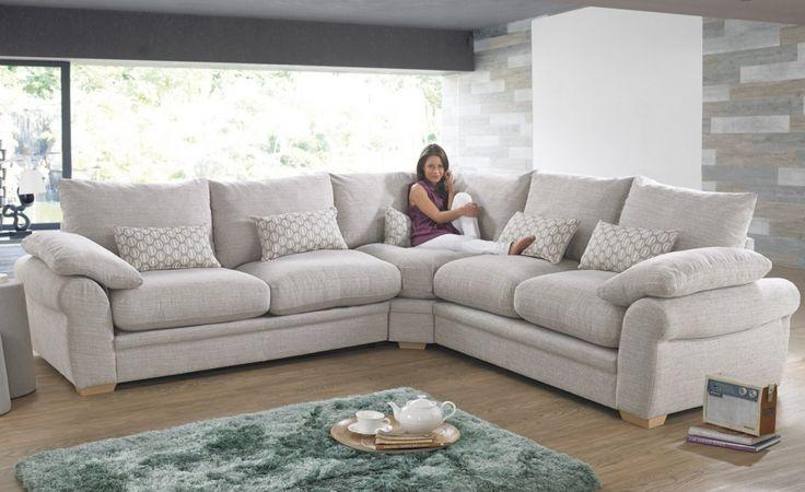 Corner Sofas and Corner Sofa Beds, Fabric Leather Corner Groups - CSL Sofas £1239