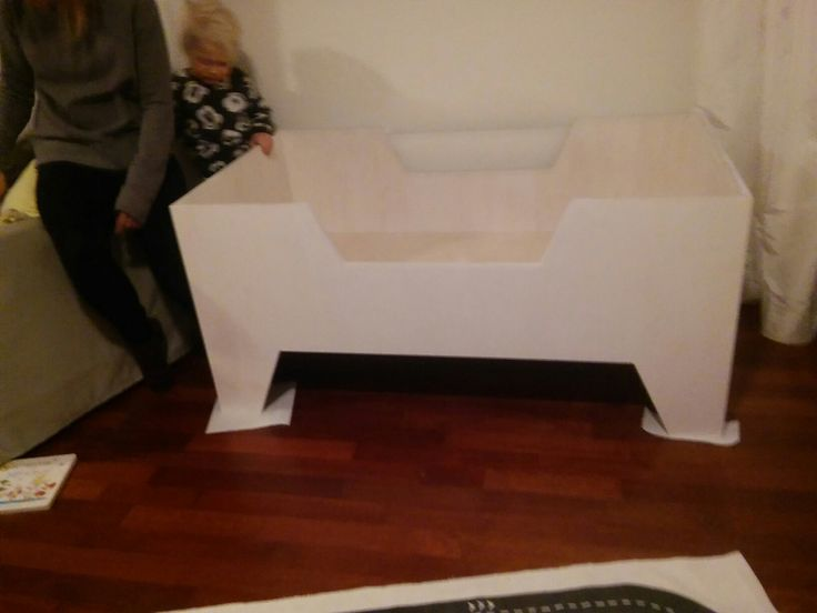 Wood work baby bed