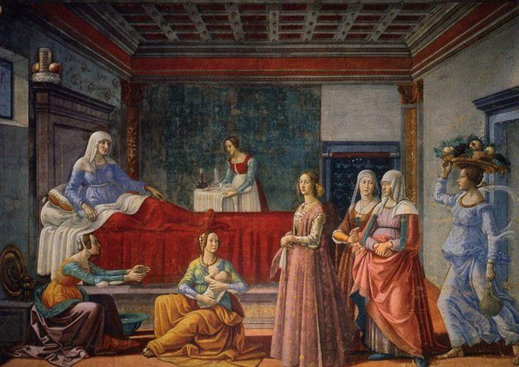 Santa Maria Novella in Florence:  Birth of St. John - Lippi
