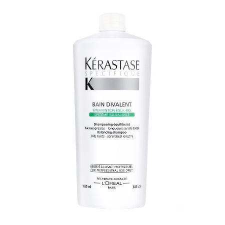 Kerastase Specifique Bain Divalent Shampoo Kerastase Specifique Bain Divalent Shampoo is and award winning shampoo that targets oily or combination hair types. Described as a dual action balancing hair bath it nourishes mid length hair and end http://www.MightGet.com/may-2017-1/kerastase-specifique-bain-divalent-shampoo.asp
