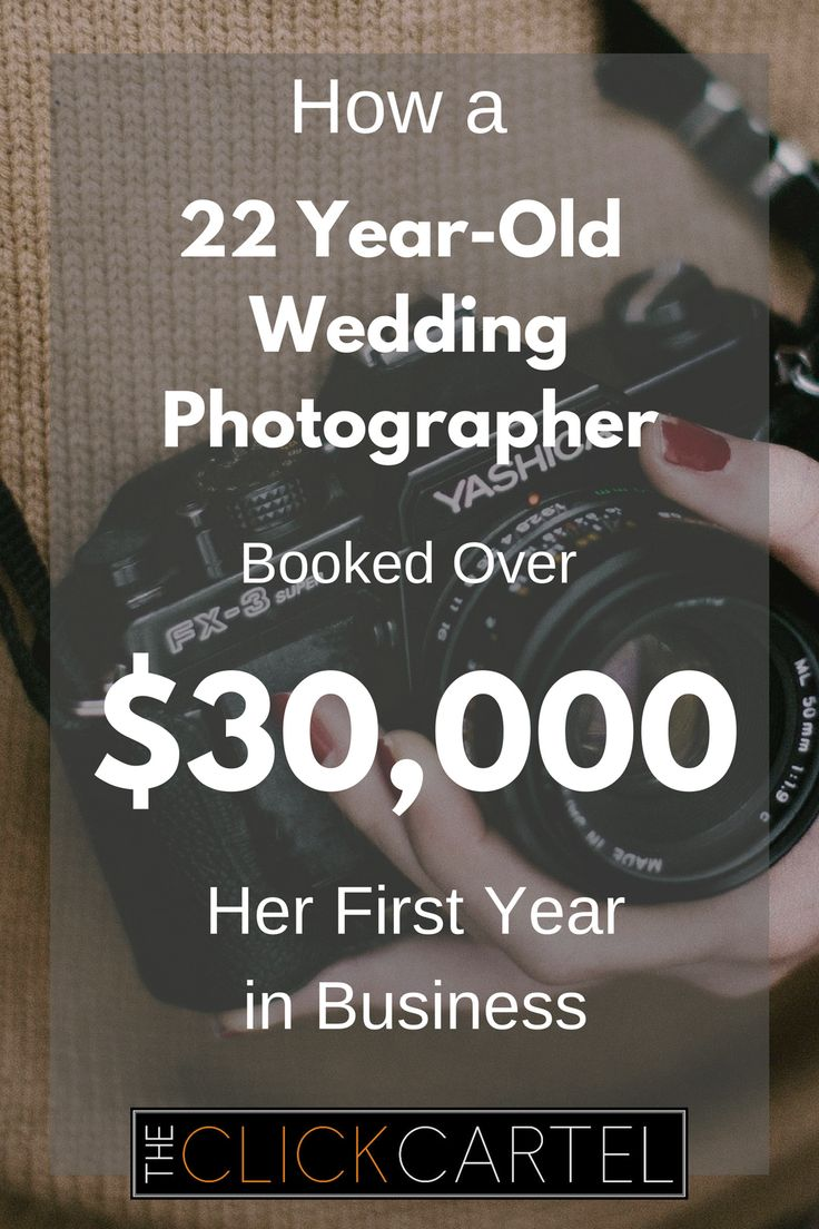 How a 22 year-old wedding photographer booked over $30,000 her first year in…