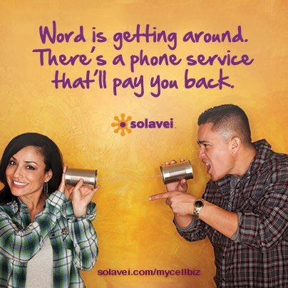 Isn't it About Time Your Phone Bill Paid You! Solavei provides unlimited voice, text and data mobile service for only $49 a month AND pays you $20 a month for every three people you enroll. Bring your own phone or buy one of ours, oh and did I mention that you can keep your same number!