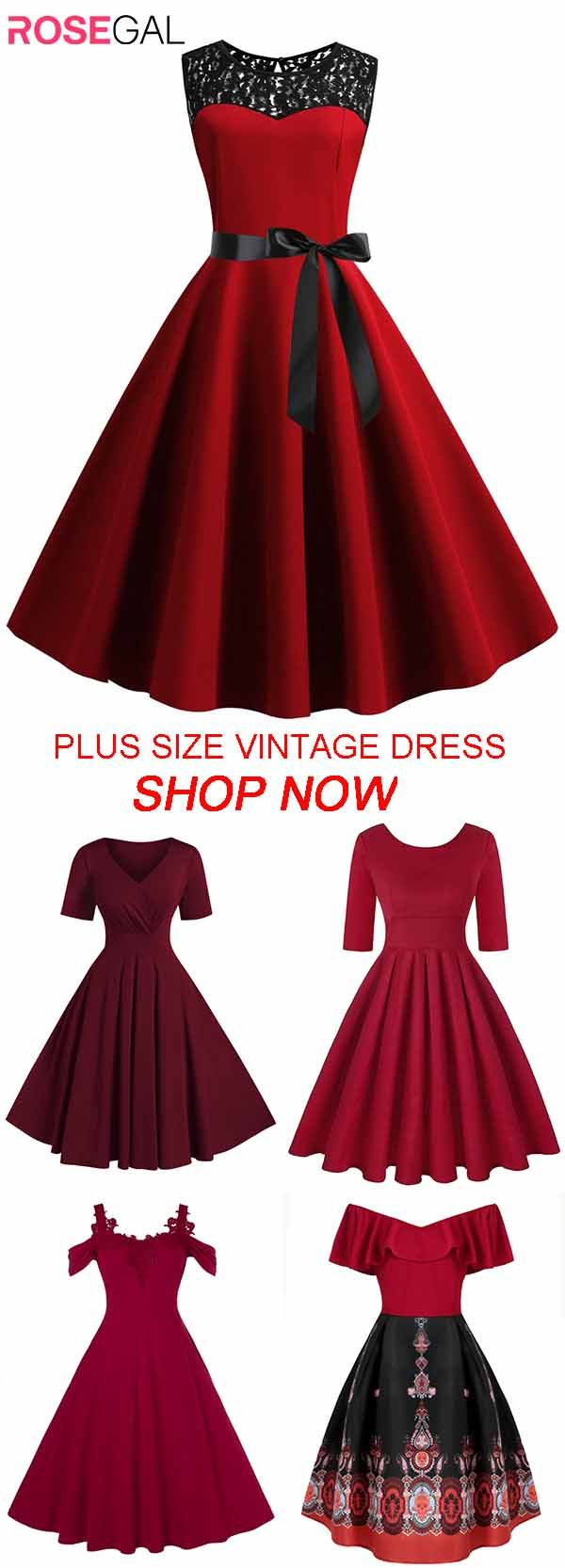 Rosegal Plus size vintage dresses ideas