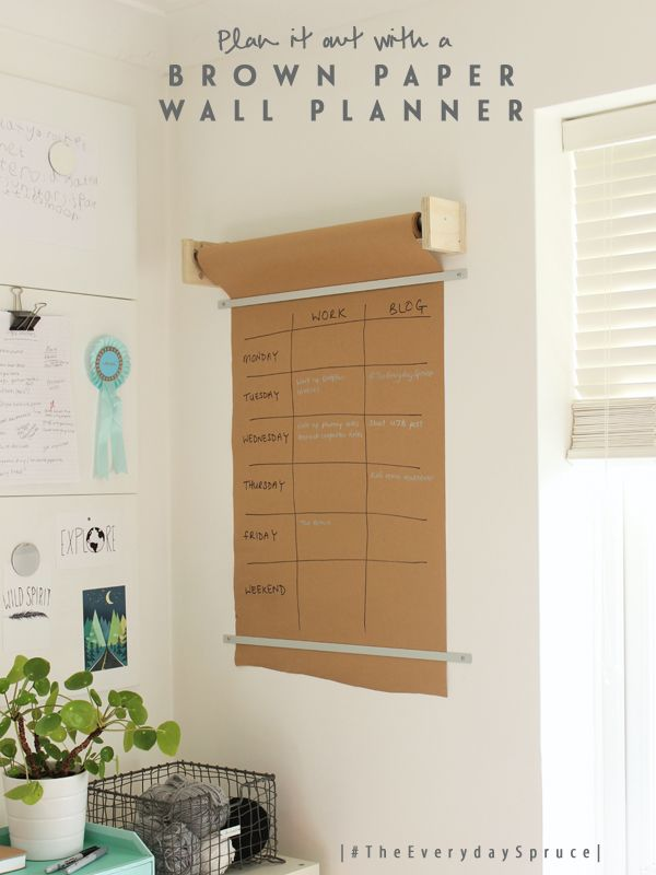 #TheEverydaySpruce DIY wall planner | Growing Spaces