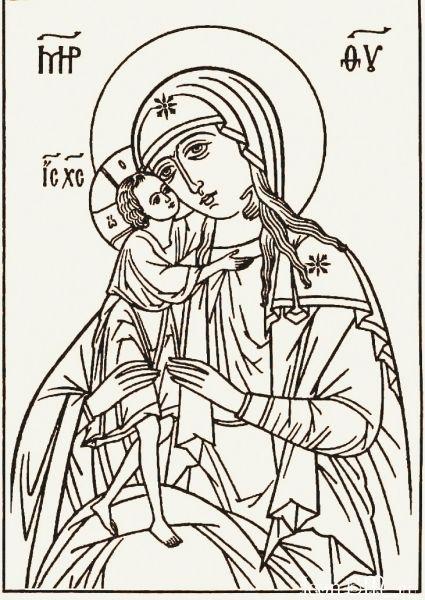 Прорись иконы Божией Матери
